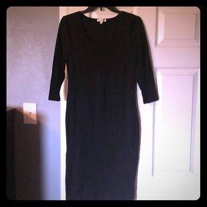 Zenana Premium Black Knit Dress